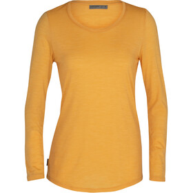 Icebreaker Sphere LS Low Crew Shirt Women, safflower heather